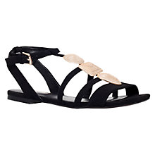 Buy Miss KG Rea Embellished Flat Sandals, Black Online at johnlewis.com