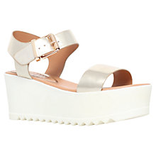 Buy Miss KG Poppy Platform Cleated Sole Wedges, Gold Online at johnlewis.com