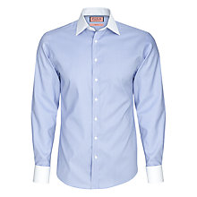 Buy Thomas Pink Bishop Plain Slim Fit Shirt, Blue/White Online at johnlewis.com