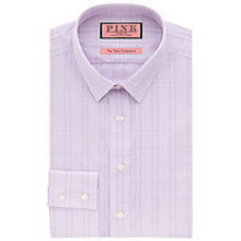 Buy Thomas Pink Jones Long Sleeve Check Shirt, Purple/White Online at johnlewis.com