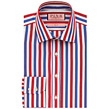 Buy Thomas Pink Walbourn Stripe Shirt, Red/White/Blue Online at johnlewis.com