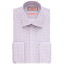 Buy Thomas Pink Molyneux Check Slim Fit Double Cuff Shirt, White/Purple Online at johnlewis.com