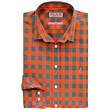 Buy Thomas Pink Bekinsdale Check Shirt , Orange/Green Online at johnlewis.com