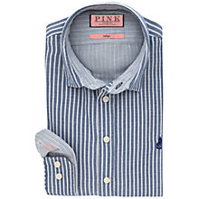 Buy Thomas Pink Rafferty Stripe Slim Fit Shirt, Navy/White Online at johnlewis.com
