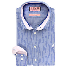 Buy Thomas Pink Egerton Jacquard Slim Fit Shirt, Blue/White Online at johnlewis.com