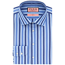 Buy Thomas Pink Walbourn Stripe Shirt, Navy/Blue Online at johnlewis.com