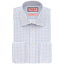 Buy Thomas Pink Molyneux Check Slim Fit Double Cuff Shirt Online at johnlewis.com