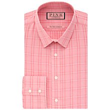 Buy Thomas Pink Jones Long Sleeve Check Shirt, Red/White Online at johnlewis.com