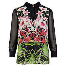Buy Ted Baker Mirrored Tropics Top, Black Online at johnlewis.com