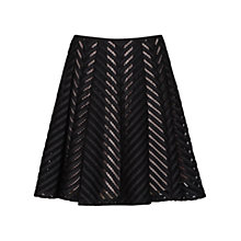 Buy Reiss Anra Technique Skirt, Black Online at johnlewis.com