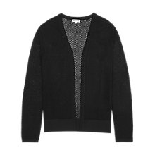 Buy Reiss Pru Sheer Cardigan, Black Online at johnlewis.com