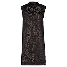 Buy Reiss Alisa Devore Burnout Dress, Black Online at johnlewis.com