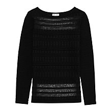 Buy Reiss Mulan Textured Top, Black Online at johnlewis.com