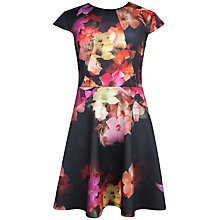 Buy Ted Baker Cascading Floral Skater Dress, Black Online at johnlewis.com