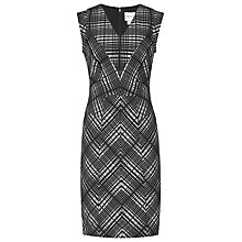 Buy Reiss Nadine Woven Dress, Black/White Online at johnlewis.com