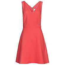 Buy Reiss Jessian Quilted Dress, Guava Online at johnlewis.com