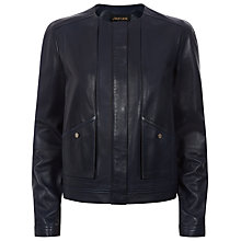 Buy Jaeger Leather Jacket, Midnight Online at johnlewis.com