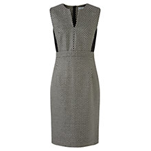 Buy Jigsaw Monochrome Textured Dress, Black Online at johnlewis.com