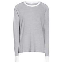 Buy Reiss Monique Ribbed Cuff Jumper, Smoke Grey Online at johnlewis.com