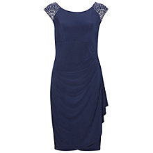 Buy Gina Bacconi Jersey Dress With Beaded Shoulders, Navy Online at johnlewis.com