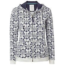 Buy White Stuff Delphine Printed Hoodie, Navy Online at johnlewis.com