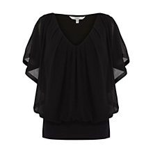 Buy Coast Clarette Calla Top, Black Online at johnlewis.com