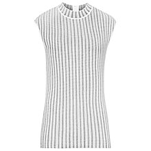 Buy Reiss High Neck Knitted Top, Black/White Online at johnlewis.com