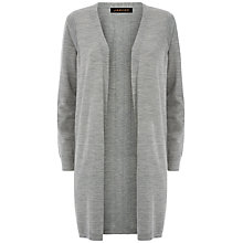 Buy Jaeger Longline Gostwyck Cardigan, Light Grey Melange Online at johnlewis.com