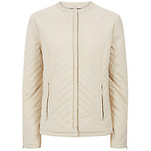 Buy Jaeger Chevron Quilted Jacket, Fog Online at johnlewis.com