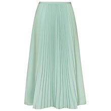 Buy Reiss Rustin Pleat Midi Skirt, Mint Online at johnlewis.com