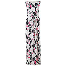Buy Gina Bacconi 3D Floral Jersey Dress, Navy Online at johnlewis.com