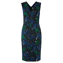 Buy Jigsaw Wood Block Print Dress, Navy Online at johnlewis.com