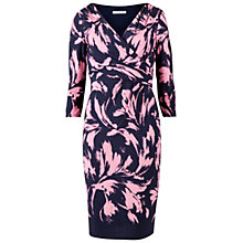 Buy Gina Bacconi Border Jersey Dress, Navy/Coral Online at johnlewis.com
