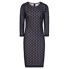 Buy Reiss Davina Stitch Lace Dress, Night Navy Online at johnlewis.com