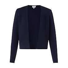 Buy Jigsaw Plated Knit Jacket, Navy Online at johnlewis.com
