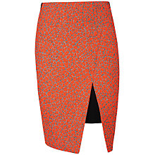 Buy Ted Baker Quanda Jacquard Skirt, Orange Online at johnlewis.com