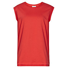 Buy Reiss Gem Jersey Top, Red Online at johnlewis.com