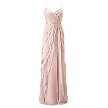 Buy Adrianna Papell Wedding Sleeveless Flutter Chiffon Gown Online at johnlewis.com