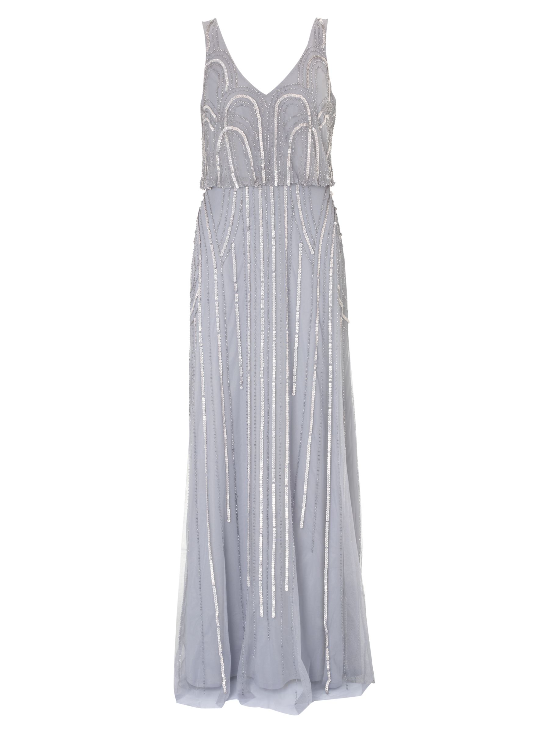 adrianna papell beaded art nouveau dress silver/grey, adrianna, papell, beaded, art, nouveau, dress, silver/grey, adrianna papell, 20|18|14|16|6|8|10|12, women, eveningwear, gifts, wedding, wedding clothing, wedding dresses, special offers, womenswear offers, 30% off selected adrianna papell, brands a-k, womens dresses, adult bridesmaids, 1875424