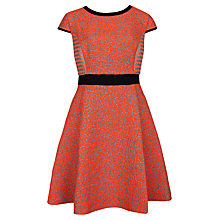 Buy Ted Baker Qiara Neon Jacquard Dress, Orange Online at johnlewis.com
