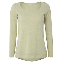 Buy White Stuff Jasia Spot Hem Tee, Soft Apple Online at johnlewis.com