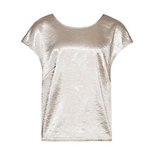 Buy Reiss Rita Cropped Top, Gold Online at johnlewis.com