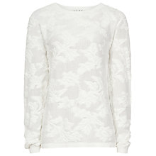 Buy Reiss Mia Mesh Jacquard Jumper, Off White Online at johnlewis.com