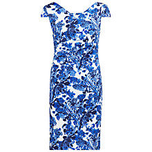 Buy Gina Bacconi Scuba Print Dress, Blue Online at johnlewis.com