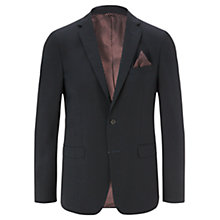 Buy Jigsaw Micro Check Slim Fit Suit Jacket, Navy Online at johnlewis.com