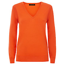 Buy Jaeger Gostwyck V Neck Jumper, Paprika Online at johnlewis.com