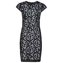 Buy Reiss April Lace Overlay Dress, Black / Blue Online at johnlewis.com