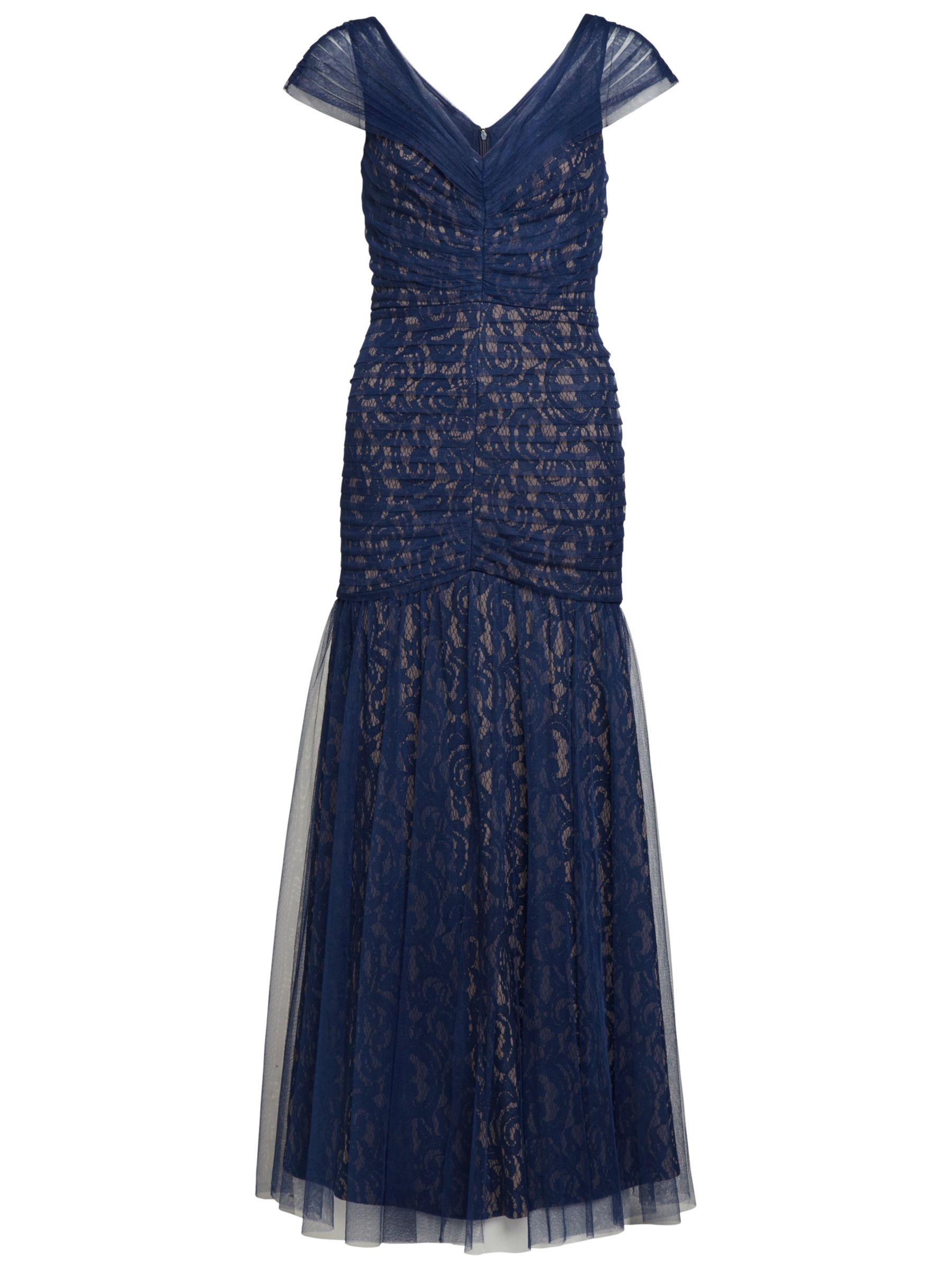 gina bacconi long mesh fishtail dress navy, gina, bacconi, long, mesh, fishtail, dress, navy, gina bacconi, 22|20|18|8|14|10|16|12, women, eveningwear, womens dresses, 1861317