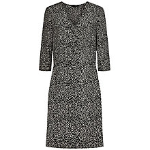 Buy Jaeger Silk Leopard Dress, Black/White Online at johnlewis.com