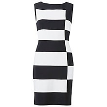 Buy Gina Bacconi Mono Tone Jersey Dress, Black/Chalk Online at johnlewis.com